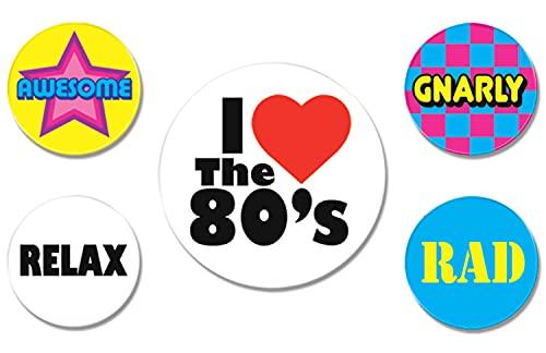 Beistle 5 Piece I Love The 80's P…