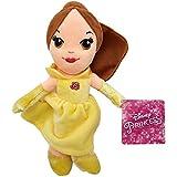 Bella 30cm Muñeco Peluche Princesa Disney Chica Pelo Marron Vestido Amarillo Super Suave Bella & Bestia