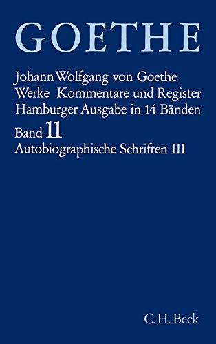 Goethe. Werke: Werke, 14 Bde. (Hamburger Ausg.), Bd.11, Autobiographische Schriften: Italienische Reise