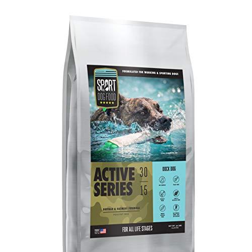 Active Series Dock Dog Buffalo Formula, Peas and Poultry Free Dry Dog Food, 30 lb. bag