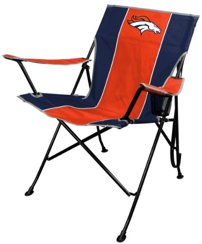 NFL Portable Folding Tailgate Chair with Cup Holder and Carrying Case, Denver Broncos