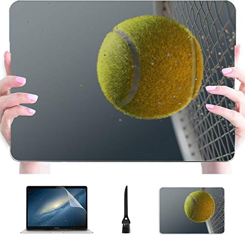 Mac Air Case Tennis Ball With Flames In The Air Plastic Hard Shell Compatible Mac Air 13' Pro 13'/16' Cover Macbook Pro Protective Cover For Macbook 2016-2020 Version