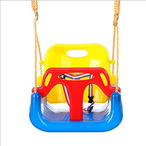 Columpio para Niños Inicio Tres En Uno Asiento De Columpio Seguro Ajustable para Bebé con Cinturón De Seguridad Columpio De Jardín Al Aire Libre