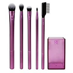 EYE MAKEUP BRUSHES: Essential makeup brushes to create favorite eye looks with cream, powder or liquid makeup products. Brush, sweep & effortlessly blend makeup with the brushes' soft bristles ranging from tapered to wide. FOR THE EYES: Five essentia...