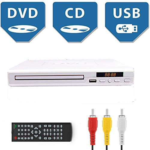 Fantastic Prices! DVD Player for TV All Region Free DVD Player with AV Output and USB Input, Remote ...