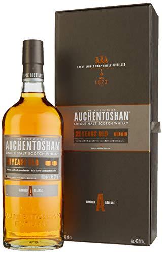 Auchentoshan 21 Jahre Single Malt Scotch Whisky, mit Geschenkverpackung, fruchtiges und langanhaltendes Aroma, 43% Vol, 1 x 0,7l