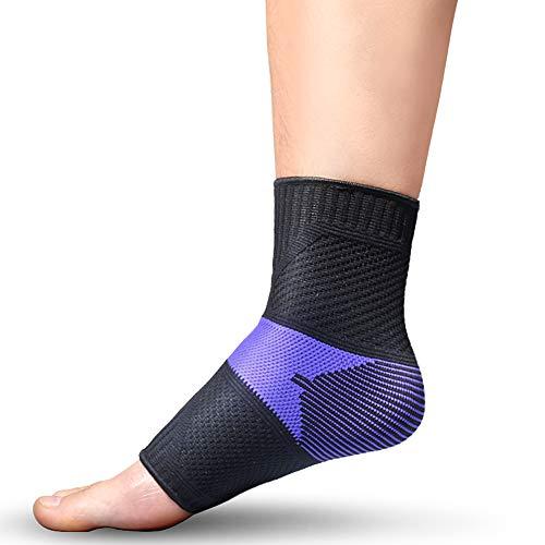 Sprunggelenkbandage Sport,Fußbandage,Ankle Support,Bandage Fußgelenk,Unisex,Fußgelenkbandage für Sport wie Joggen,Fußball oder Fitness,Sprunggelenkbandage für Sensomotorik,Paar Sprunggelenkbandage,