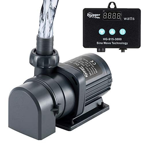 hygger 800GPH Quiet Submersible and External 24V Water Pump, with Controller (30%-100% Settings), Powerful Return Pump for Fish Tanks, Aquariums, Ponds, Fountains, Sump, Hydroponics (25W, 9.8ft)