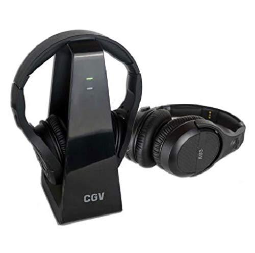 HEL Prelude 2 Duo 2 - Auriculares de televisión inalámbricos con transmisión digital (2,4 GHz, incluye estación de recepción)