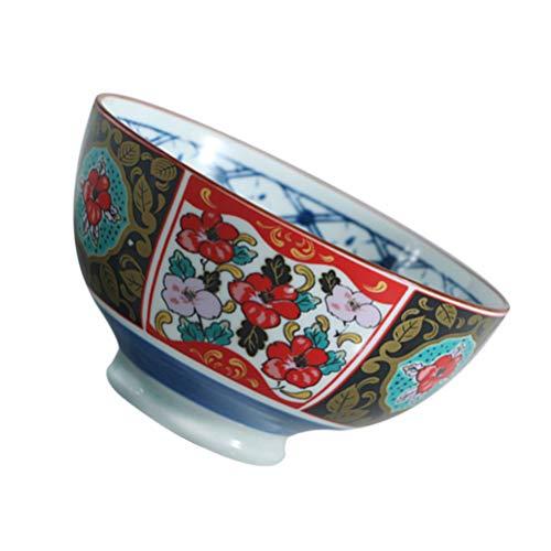 ABOOFAN Cuenco de Fideos de Porcelana Japonesa Auténtico Cuenco de Ramen Japonés Cuenco de Sopa Chino Vajilla para Restaurante en Casa Soporte de Sopa de Arroz 4 5 in