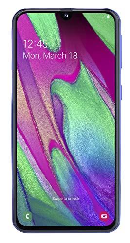 Samsung Galaxy A40 Smartphone (15.0cm (5.9 Zoll) 64GB interner Speicher, 4GB RAM, Dual SIM, blau) - Deutsche Version