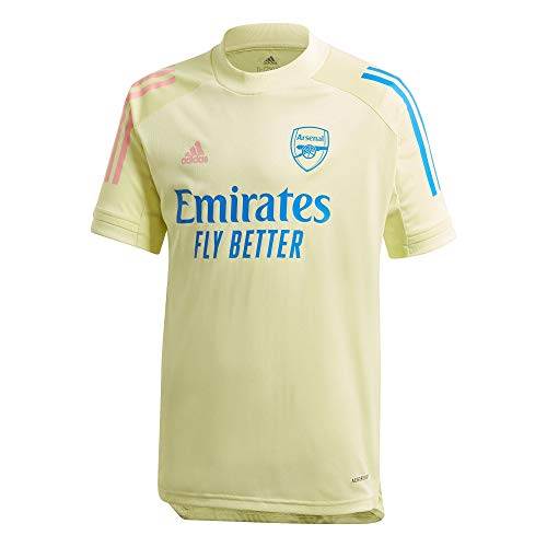adidas 2020-2021 Arsenal Training Football Soccer T-Shirt Jersey (Yellow) - Kids