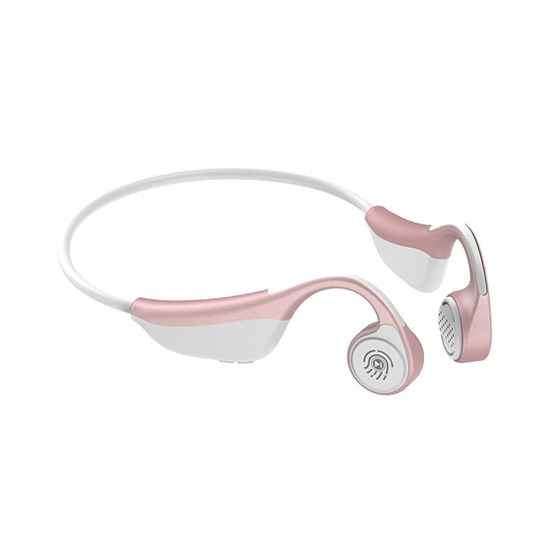 日記規定月曜YANGBM ワイヤレスBluetoothヘッドセット、タッチ骨伝導Bluetoothヘッドセット、ディープベースステレオワイヤレスヘッドセット (Color : Pink)