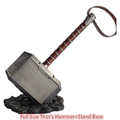 damdos Halloween Cosplay Prop 45cm 1:1 Thor\'s Hammer Endgame Odinson Waffe Hammer Captain Cosplay Zubehör Krieger, Donnergott, Fasching, Wikinger LARP