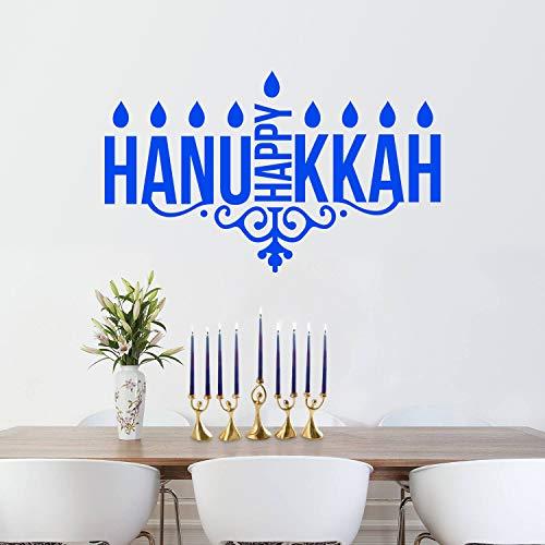 Vinyl Wall Art Decal - Happy Hanukkah Kaarsen - 23
