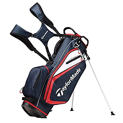 TaylorMade 2019 Golf Select Stand Bag, Navy/Red/White