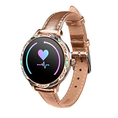 ZGNB Reloj inteligente para mujer M9, impermeable, IP68, esfigmomanómetro de frecuencia cardíaca, recordatorio de Whatsapp, rastreador de salud para Android iOS, C