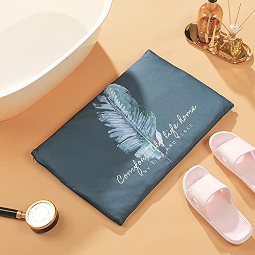 SUNONE Almohadilla de Barro de diatomeas Suave, Almohadilla de Tierra de diatomeas de Secado rápido Almohadilla de baño con Funda de Tela Lavable Apta para niños y Ancianos,F