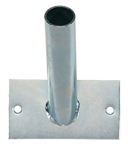 GAH-Alberts 639662 Halter für Fahnenmasten | zur Befestigung an der Wand | für eine Fahne | galvanisch blau verzinkt | Aufnahmerohr-Ø 29mm