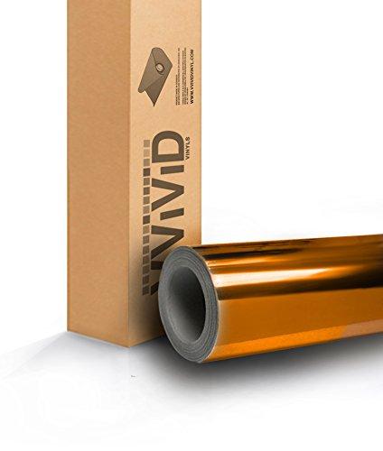 VViViD Gold Mirror Chrome Vinyl Car Wrap Self-Adhesive Film Decal (2ft x 5ft)