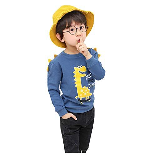 Kobay-Baby Kleinkind Kind Jungen Mädchen Cartoon Dinosaurier Langarm Sweatshirt Pullover Top Boy Langarm Herbst Cartoon Dinosaurier Druck Koreanisches Sweatshirt (1-6Y)