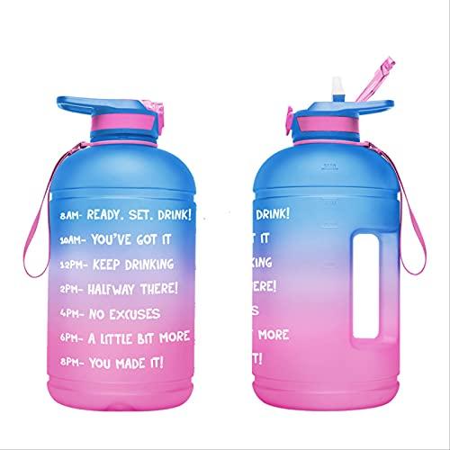 Botella De Agua Grande De 1 Galón 3,78 L, Sin Bpa, A Prueba De Fugas, Con Sello De Tiempo Para Garantizar Que Beba Suficiente Agua Durante Todo El Día, Botella Grande De Plástico