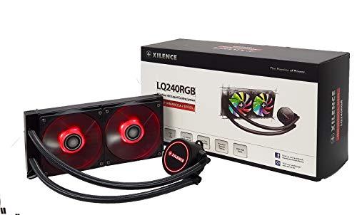 Xilence LiQuRizer | Liquid CPU Kühler | Wasserkühlung | XC976 | Multi Sockel | AiO | 240 mm Radiator | 2x 120 mm RGB Lüfter | transparent/schwarz