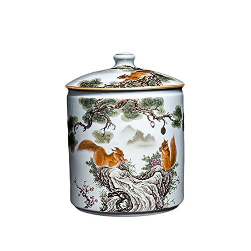 LYQZ Food Storage Jars, European Ceramic Food Jars, With Lids, Used For Food Storage, Storage Of Biscuits, Biscuits, French Fries, Etc.