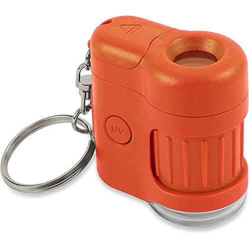 Carson MicroMini 20x LED & UV Pocket Microscope - Orange