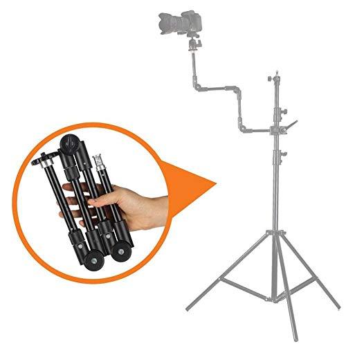 VBESTLIFE S-096 - Brazo mágico de cuatro secciones, accesorio de extensión de soporte de cámara articulada ajustable de aleación de aluminio adecuado para clip de teléfono, lámpara Flash