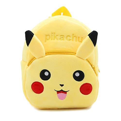 CHDJ - Mini sac à dos en peluche pour bébé fille et garçon de 1 à 3 ans, motif dessin animé mignon Jaune Pikachu 3 ans