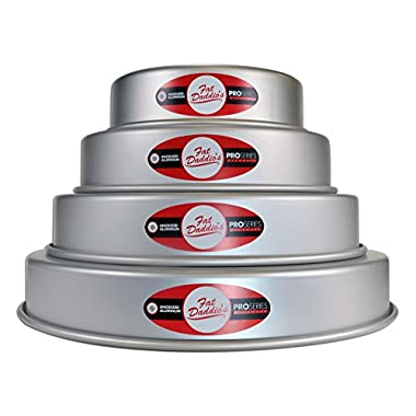 Fat Daddios Fat Daddio's 4 Tier 6 , 8 , 10  and 12  Round Pan Set