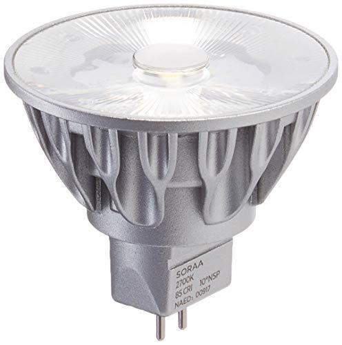 Bulbrite SM16GA-09-36D-827-03 SORAA 9W LED MR16 2700K Brilliant 36/° 120V GU10 DIM Silver