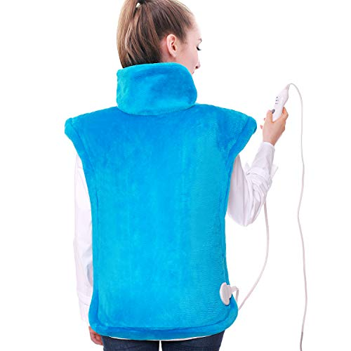 Large Heating Pad for Back Pain Relief Heating Pad for Neck and Shoulders Weighted Heating Pads for Full Body Upper Lower Back Pain Relief Soreness Cramps Relief Auto Shut Off (24x33', Green)
