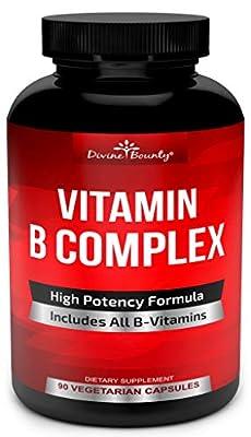 Super B Complex Vitamins - All B Vitamins Including B12, B1, B2, B3, B5, B6, B7, B9, Folic Acid - Vitamin B Complex Supplement