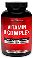 MORE POTENT SOURCE OF B-COMPLEX VITAMINS - Our extra strength formula contains all the essential B Vitamins in just one capsule. If you'd rather take your B Vitamins (like B 12 & 6) together to maximize the benefits, look no further! Divine Bounty of...