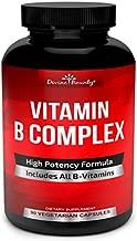 Super B Complex Vitamins - All B Vitamins Including B12, B1, B2, B3, B5, B6, B7, B9, Folic Acid - Vitamin B Complex Supplement - Support Healthy Energy Metabolism - 90 Vegetarian Capsules