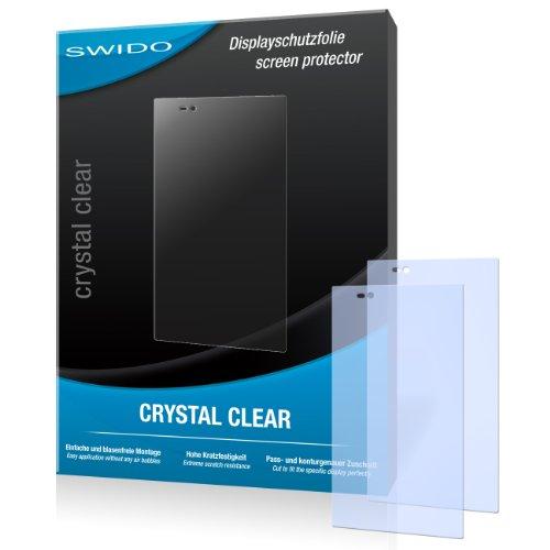 SWIDO Bildschirmschutz für Sony Xperia Z Ultra [4 Stück] Kristall-Klar, Hoher Festigkeitgrad, Schutz vor Öl, Staub & Kratzer/Schutzfolie, Bildschirmschutzfolie, Panzerglas Folie