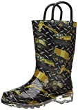 Western Chief Boys' Light-Up Waterproof Rain Boot, Build Site, 10 M US Toddler