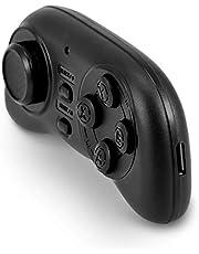 Tihebeyan Mini Gamepad, PL-608 Mini Bluetooth Gamepad Controlador inalámbrico de Juegos con Control Remoto y Controlador Multimedia para Android/iOS/PC(Negro)