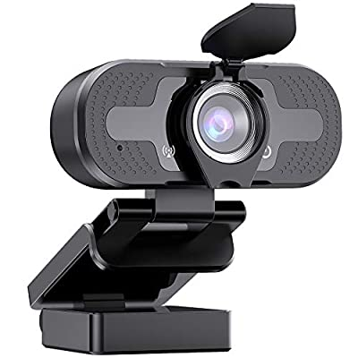 Webcam with Microphone for Desktop Laptop, 1080P HD Streaming USB PC Computer Web Camera for Video Calling Conferencing Recording Gaming, Skype/YouTube/Zoom