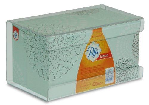 "TrippNT 51140 Plastic Wall Mountable Kleenex Box Holder, 9-1/2"" Width x 5-1/4"" Height x 5"" Depth, Large, Clear"