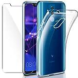 Cover Huawei Mate 20 Lite Custodia + Pellicola Protettiva in Vetro Temperato, Leathlux Morbido...