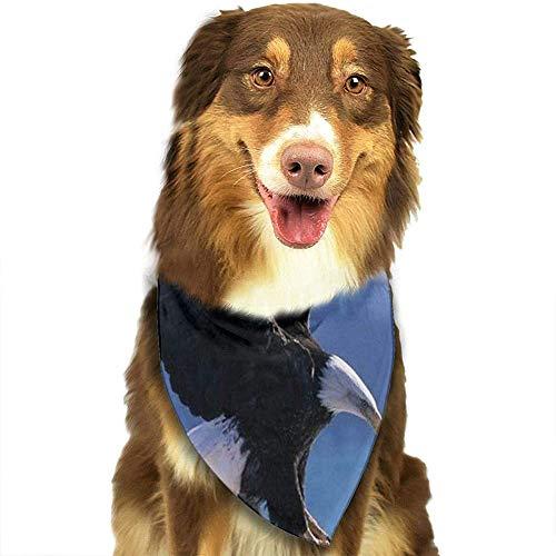 YAGEAD Pañuelo para Perros Cachorro y pañuelos para Mascotas, American Eagels Nature Lake Pet Scarf