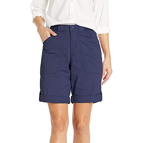 Buetory Womens Chino Bermuda Shorts Casual Loose Lounge Yoga Jersey Summer Workout Cargo Shorts with PocketsNavyX Small