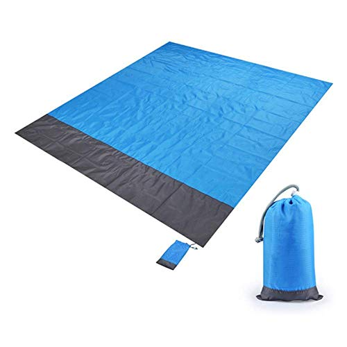 AJH Camping Tent Mat, Portable Picnic Beach Mat, Pocket Blanket, Waterproof Mattress Outdoor Picnic, Blanket Ground Mat, for Camping, Picnic, 78 * 82 in