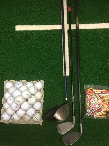 Lakeballs-Diver (Crossgolf - Set XXL 3 Golfschläger + 100 Crossgolfbälle + 100 Holztees, Crossgolf, Golfbälle, Urbangolf (Rechtshand)