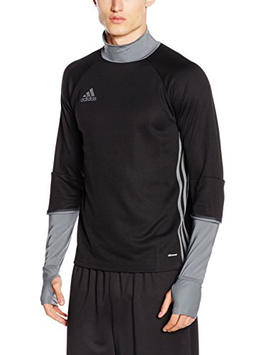 adidas Herren Sweatshirt Condivo 16 Training Trainingsoberteil, Black/Dark Grey, M