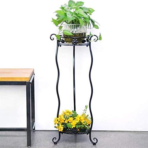 CESULIS Soporte de Flores Art Flowerpot Base Base Holder Hot Hierro Planta Soporte Planta Rack Multi-Capa for Sala de Estar Interior Balcón Decoración (Color: Blanco, Tamaño: Pequeño) Patio/Balcón