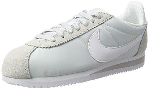 Nike Damen Classic Cortez Nylon Laufschuhe, Elfenbein (Pure Platinumwhite), 40.5 EU